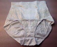 """Women Panties,Briefs/Body Control""""Eva Cervantes""""Size L. White Shiny Satin Floral"""