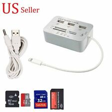 Card Reader Adapter+3-USB HUB Camera Connection Combo Kit for iPad 4/MINI/AIR/2