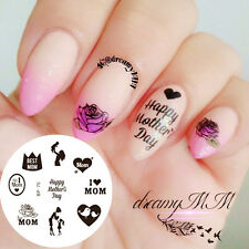 BORN PRETTY Nail Art Stamping Plate Mothers Day Theme Image Template BP70