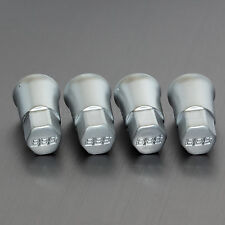 4x Genuine BBS Aluminium Valve Cap Covers for Rubber Valves Only (screw on)