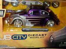 JADA 1959 59 VOLKSWAGEN VW BUG BEETLE MODEL KIT -Purple w/ SURFBOARD, 1/24