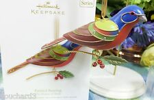 Hallmark Painted Bunting ornament 2012 8th in Beauty of the Bird Series sldb