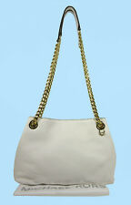 MICHAEL KORS JET SET CHAIN Optic White Leather MD Shoulder Bag Msrp $198.00