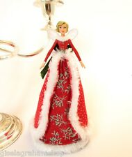 GISELA GRAHAM Christmas tree topper fairy princess angel with red fur-lined coat
