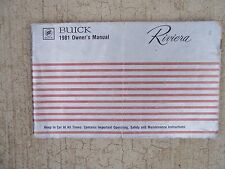 1991 Buick Riviera Car Owner Manual Operating Maintenance Safety Transmission  R