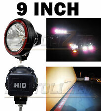 2x Universal 9 Inch Built-in Xenon HID 4x4 Off Road Rally Driving Fog Light Lamp