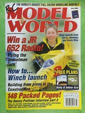 RC Model World - Radio Controlled Aircraft, July 2000 - 2 Free Plans Batty