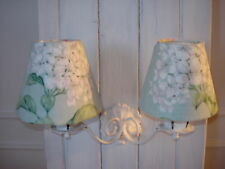 LAURA ASHLEY HELIGAN **CANDLE LAMPSHADES ** FRENCH STYLE FLORAL LINEN