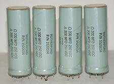 4x SANGAMO 200+200uF 250V Elko Kondensator Capacitor 35mm x 100mm (9,90EUR/Stk)