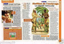 Coupure de Presse Clipping 1998 Abolition de l'esclavage