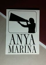 ANYA MARINA SLOW & STEADY SEDUCTION PHASE II B&W 3x4 MUSIC STICKER
