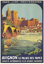 Art Ad Avignon Paris Lyon Med Travel  Poster Print