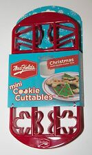 Mrs. Fields Mini Cookie Cuttables Grid -- Candy Canes, Trees, Gingerbread - NEW