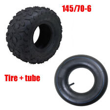 "145/70 - 6"" inch Front Rear Tyre Tire + Tube 90 110cc Quad Dirt Bike ATV Buggy"