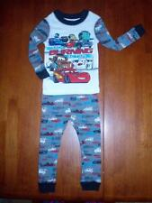 """Toddler """"CARS"""" Track Burning Action  2-Piece PJ Set  Size 2  NWT!!"""