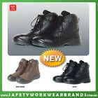 Lace Up Work Boots Steel Toe Capped Workwear Industrial Black CAP Sizes 6-13 9E4