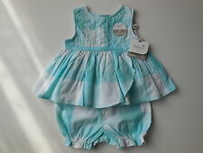 M&Co UK Baby Girl Dress + Bloomers Size 0000 Fits Newborn 4.5kg * Gift * NEW