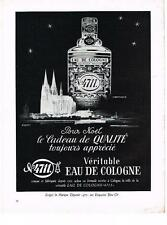 PUBLICITE ADVERTISING  1958  EAU DE COLOGNE  KOLNISCH WASSER  N°4711