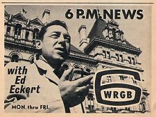 1965 Tv Ad~ED ECKERT & NEWS on WRGB in ALBANY,NEW YORK