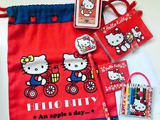 Vintage Sanrio Hello kitty Pad Mini Pencils Bag Eraser Top Lot 1976