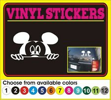 Disney Peeking Mickey Mouse  cartoon window truck vinyl sticker decal