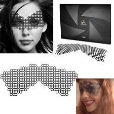Reusable Black Vinyl Sticker Eye Mask Costume Robotic Cosplay Masquerade Dance