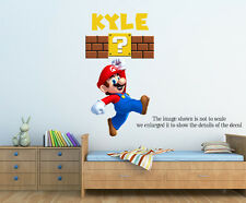 Personalized Super Mario Wall Decal (Removable and Replaceable)