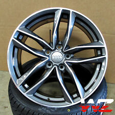 18 in Audi RS6 1196 Avant Style Wheels Rims Gunmetal Machined Fits A4 A5 A6 S4