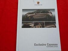 PORSCHE Exclusive Cayenne Hardcover Prospekt von 12/2011