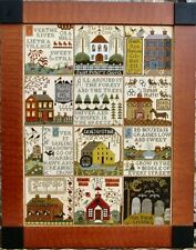 """The Village At Hawk Run Hollow Sampler"" Pattern by CARRIAGE HOUSE SAMPLING"