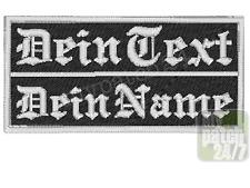 Badge gravé nom Biker patch écusson Brodés 10x5cm