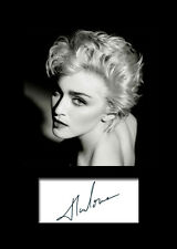 MADONNA #1 Signed Photo Print A5 Mounted Photo Print - FREE DELIVERY