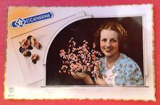 Carte Postale. SAINTE CATHERINE. Fond Rose. Fête. Femme.