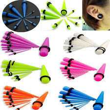 108pcs Wholesale Lots Acrylic Ear Plugs Taper Gauges Expander Stretcher Piercing