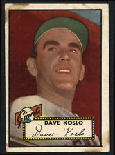 1952 TOPPS ~ #336 ~ DAVE KOSLO ~ HIGH NUMBER