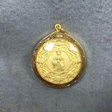 Thai Amulet Coin Jatukam Ramathep Phra Rahu zodiac Pendant Talisman Bronze rare