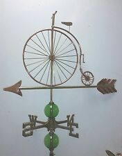 Beautiful UNIQUE LARGE OLDTYME BICYCLE  weathervane, COMPLETE SETUP + mount