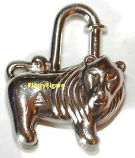 AUTHENTIC HERMES CHARM CADENAS LION PALLADIUM 1997 RARE