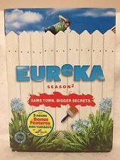 EUREKA~ SEASON 2 TWO~ DVD ~3 AS NEW MINT CONDITION DVD'S ~ 5 HOURS BONUS FEATURE