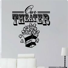 "24"" Our Theater Popcorn Movie Wall Decal Sticker Home Den Decor Mural Art"