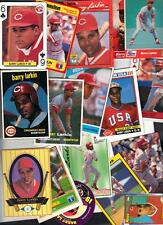 50 Barry Larkin Reds Food Issue Cards etc Lot Issued 1979-1993 Closeout sale HOF