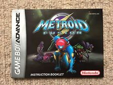 MANUAL ONLY Metroid Fusion - Game Boy Advance GBA Instruction Manual Only