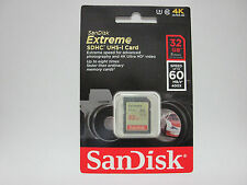 Sandisk 32G extreme 4K Ultra HD SD card for Panasonic HC W580K V380K V180K cam