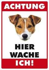 ACHTUNG JACK RUSSEL TERRIER FUNSCHILD - 10x15 cm Blechkarte Blechschild 15020