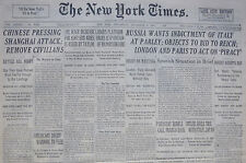 9-1937 September 8 CHINESE PRESSING SHANGHAI ATTACK. RUSSIA WANTS INDICTMENT OF