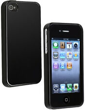 Housse semi rigide noire glossy iPhone 4