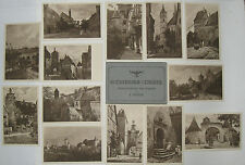 13 Kupferdruckkarten und 20 Fotos Motive Stadt Rothenburg ob der Tauber bis 1945