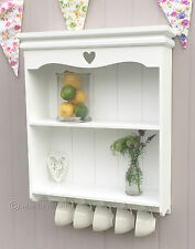 shabby / chic wall shelves white wooden kitchen bathroom vintage style shelf