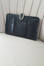 VINTAGE BLACK SNAKESKIN CLUTCH BAG