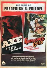 Axe / Kidnapped Coed DVD Severin Frederick R. Friedel Grindhouse Video Nasty